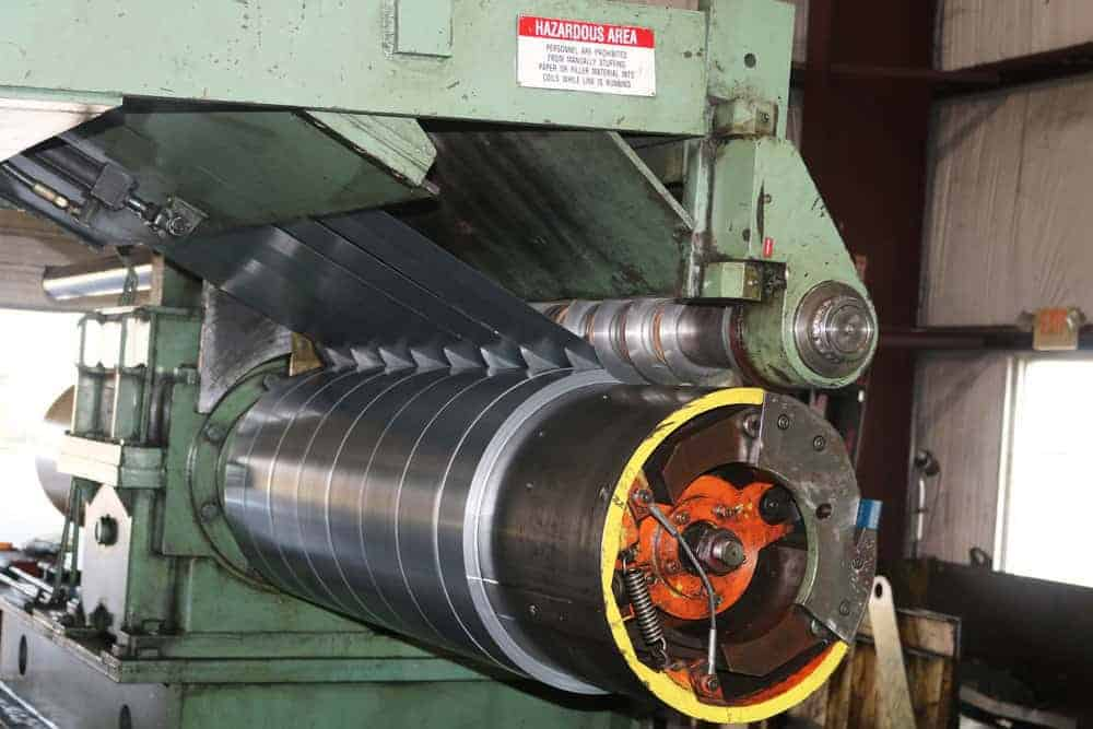 secondary, secondary steel, excess steel, slit coils, recoiler, slitting line