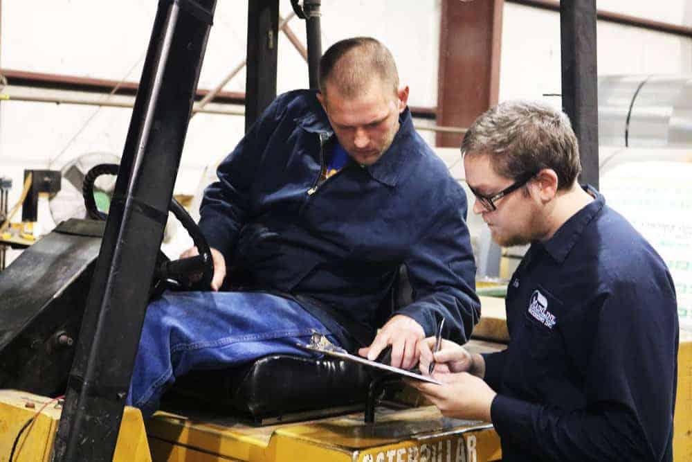 forklift driver, shop foreman, forklift, inventory, steel, excess steel, coils